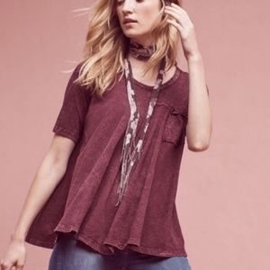 Eri + Ali Waterfall Pocket Washed Out Tee